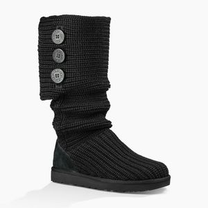 Ugg Classic Cardy Knit Tall Fold-over Boots 6
